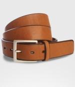 Cintura in cuoio di Toro fresata Cm. 4