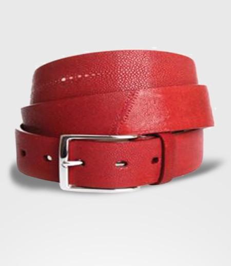 Cintura in Pelle di Razza Cm. 3.5