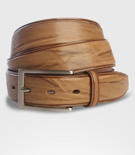 Cintura in Pelle di Toro Striato Cm. 3.5
