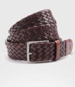Cintura Intrecciata in pelle di Toro Cm. 3.5