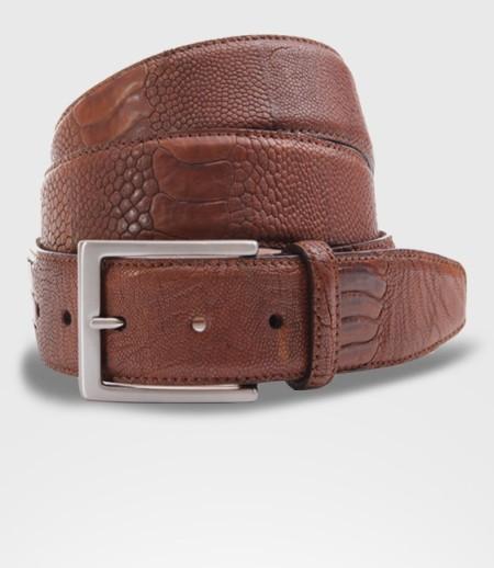 Cintura in Pelle di zampa di Struzzo Cm. 4