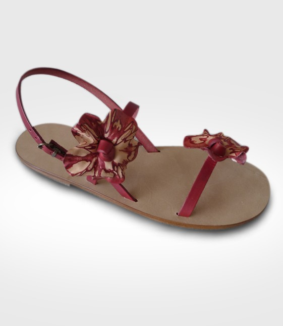 Sandalo Pescia da Donna in cuoio Flex realizzato da Fides
