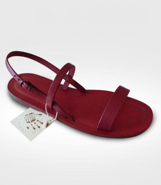Sandalo Anghiari mod. Francescano da Donna in cuoio Flex realizzato per Lucrezia
