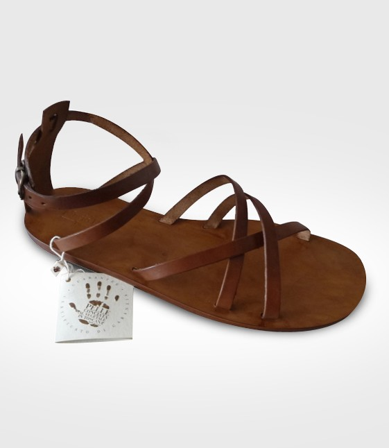 Sandal Argentario Woman in leather Flex realized by Mariaf