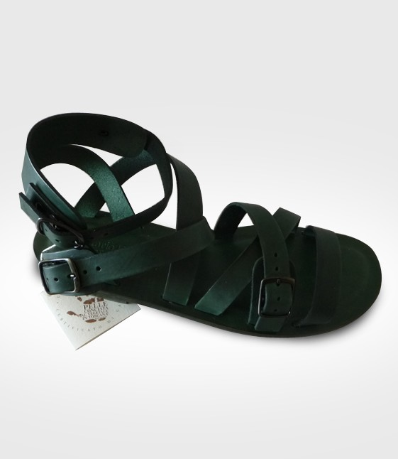 Sandale Calci mod. Gladiator Frau in Leder Flex realisiert von VIOLETTA