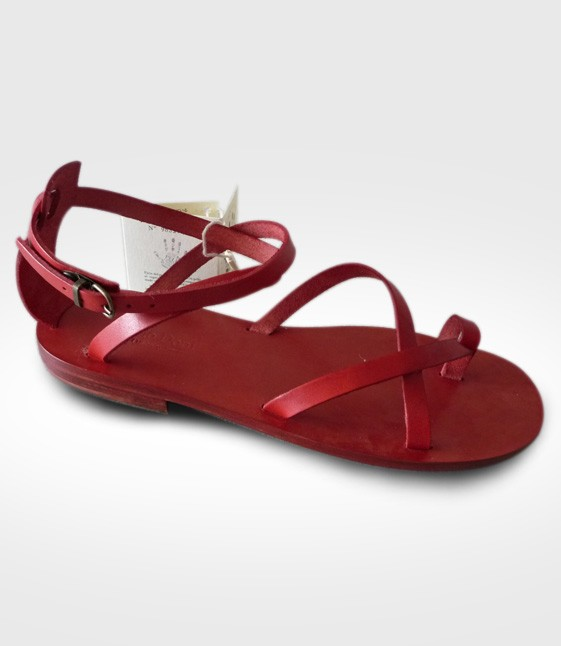 Sandal Pietrasanta mod. Flip-Flops Woman in leather Flex realized by 1Emy