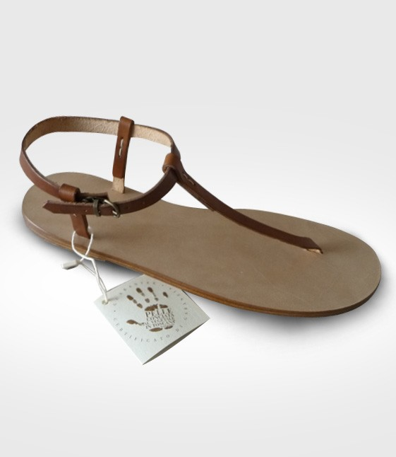 Sandal Cortona mod. Flip-Flops Woman in leather Flex realized by Fiore