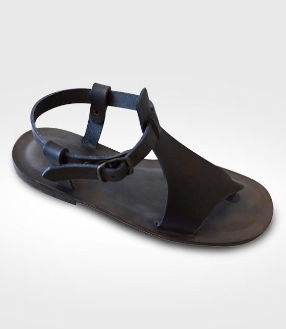 Sandale Barga mod. Flip-Flops Frau in Leder Flex realisiert von ger