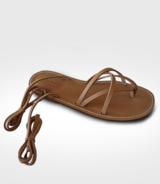 Sandal Sassetta mod. Flip-Flops Woman in leather Flex realized by 7zero2