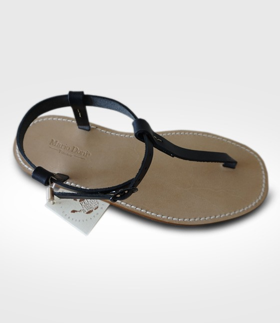 Sandal Cortona mod. flip-flops for Man in leather flex realized by Tommy