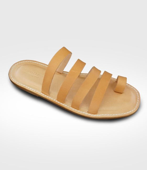 Sandal Scarperia mod. Flip-Flops for Men in leather Flex realized by Stefan