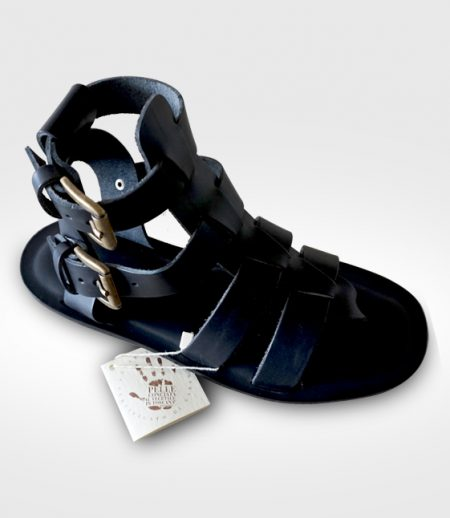 Sandal Marradi mod. Gladiator Manin leather flex realized for fuoco