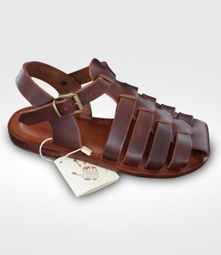 Sandal San Gimignano mod. Franciscan Woman in leather Flex realized for inglin