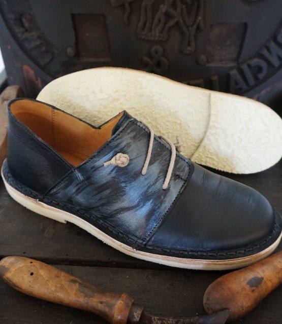17 scarpa donna mod. 01 blu effetto perla 01 (4)