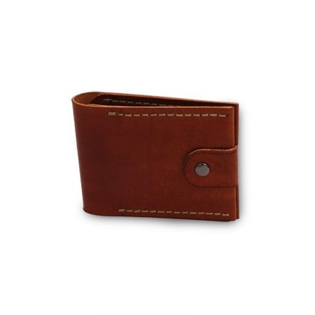 "Card holder  with button in leather ""Dante"""