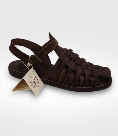 Sandal Arno for Man closed in flex leather realized for Elio
