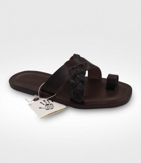 Sandal men San Miniato mod. flip flop in leather Flex realized for Mirko