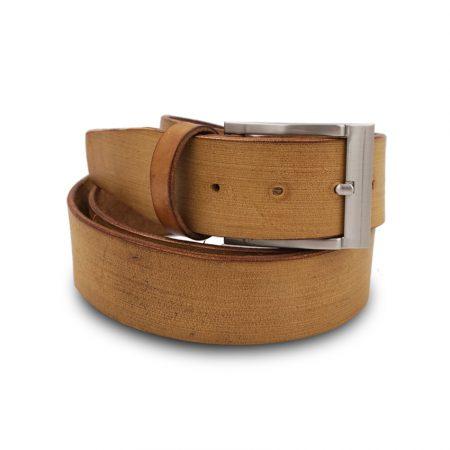 Cintura cuoio Mod. Graffio altezza 4 cm