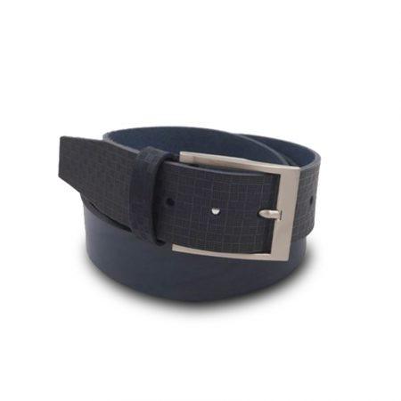 Cintura cuoio Mod. Griglia altezza 4 cm