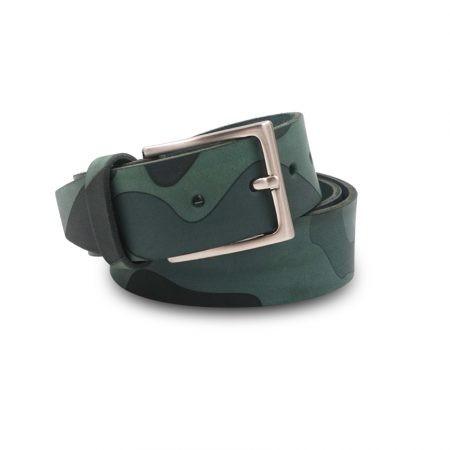 Cintura cuoio Mod. Mimetico altezza 4 cm