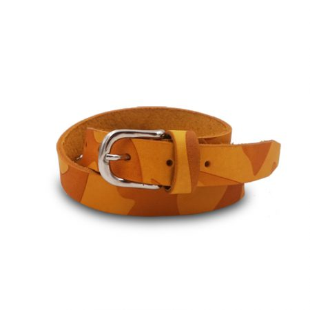 Cintura cuoio Mod. Mimetico altezza 2.5 cm