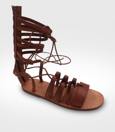 Sandal Etrusco mod. Gladiator Woman in leather Flex realized by Antonella