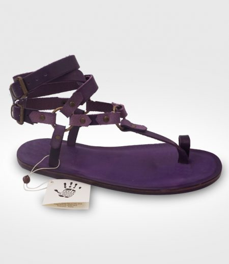 Sandal men Abetone mod. gladiator in leather Flex realized for R.W.