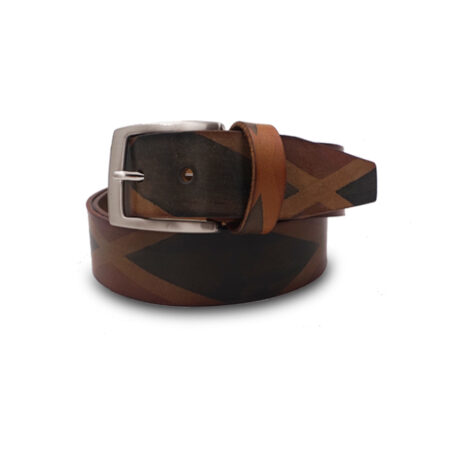 Cintura cuoio Mod. Rombi altezza 3.5 cm