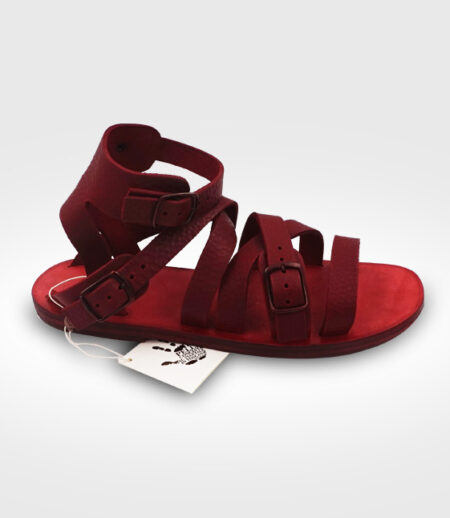 Sandal Calci mod. Gladiator Antica Toscana in leather Flex realized by Paola